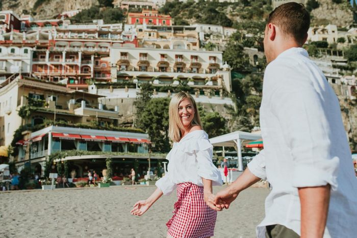 engagement in Positano